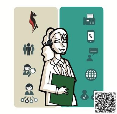 Distribución de llamadas automáticas de Luxor Contact Suite